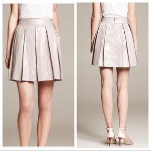 Banana Republic | Metallic Pleated Skirt